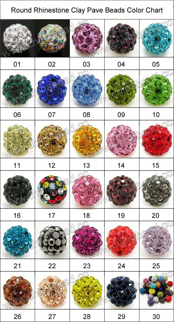 Rhinestone clay pave beads with color #1 crystal stones, Round, Approx 12mm, Hole: Approx 1.2mm, 100pcs per bag, Sold by bags.