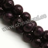 Gemstone Beads, Candy Jade, Color #08 purple, Smooth round, Approx 6mm, Hole: Approx 1mm, 65pcs per strand, Sold by strands