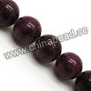 Gemstone Beads, Candy Jade, Color #08 purple, Smooth round, Approx 12mm, Hole: Approx 1.2mm, 33pcs per strand, Sold by strands