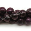 Gemstone Beads, Candy Jade, Color #08 purple, Smooth round, Approx 14mm, Hole: Approx 1.2mm, 28pcs per strand, Sold by strands