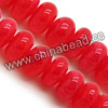 Gemstone Beads, Candy Jade, Color #34 cherry quartz, Smooth rondelle, Approx 6x10mm, Hole: Approx 1mm, 63pcs per strand, Sold by strands
