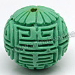 Cinnabar beads, Turquoise, Longevity long life Chinese symbol round carved, Approx 23mm, Hole: Approx 2mm, Sold by PCS