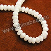 Gemstone Beads, Candy Jade, Color #33 white, Smooth rondelle, Approx 5x8mm, Hole: Approx 0.8mm, 70pcs per strand, Sold by strands