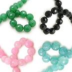 12mm Faceted Round Beads