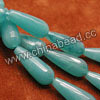 Gemstone Beads, Candy Jade, Color #3 aqua blue, Faceted teardrop, Approx 11x28mm, Hole: Approx 1.5mm, 14pcs per strand, Sold by strands