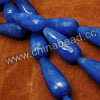 Gemstone Beads, Candy Jade, Color #7 lapis blue, Faceted teardrop, Approx 11x28mm, Hole: Approx 1.5mm, 14pcs per strand, Sold by strands