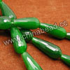 Gemstone Beads, Candy Jade, Color #12 green, Faceted teardrop, Approx 11x28mm, Hole: Approx 1.5mm, 14pcs per strand, Sold by strands