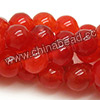 Gemstone Beads, Candy Jade, Color #06 orange red, Smooth round, Approx 14mm, Hole: Approx 1.5mm, 28pcs per strand, Sold by strands