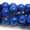 Gemstone Beads, Candy Jade, Color #07 lapis blue, Smooth round, Approx 14mm, Hole: Approx 1.5mm, 28pcs per strand, Sold by strands