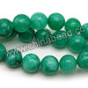 Gemstone Beads, Candy Jade, Color #28 dark amazonite, Smooth round, Approx 14mm, Hole: Approx 1.5mm, 28pcs per strand, Sold by strands