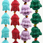 Carved Buddha Beads