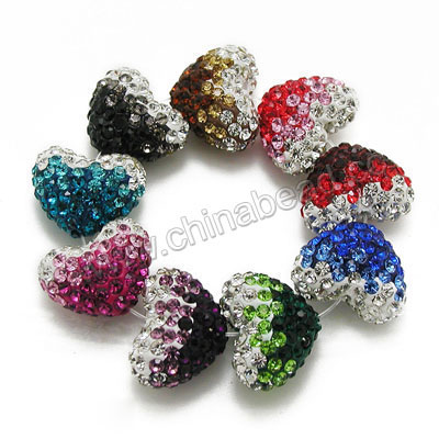 16x13mm Heart Clay Beads