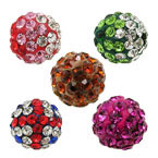 10mm Round Clay Pave Rhinestone Bead