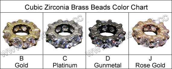 Cubic Zirconia European Beads, Brass rondelle in gunmetal plating with clear tiny CZ stones, Approx 8x3mm, Hole: Approx 4mm, 10pcs per bag, Sold by bags