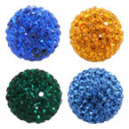 20mm Round Clay Pave Bead