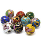 Smooth Round Cloisonne Beads