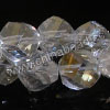 Glass Beads, Hand-cut crystal, Crystal aurora borealis, Faceted helix, Approx 8x8mm, Hole: approx 1.2mm, 72pcs per strand, Sold by strands