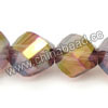 Glass Beads, Hand-cut crystal, Lilac aurora borealis, Faceted helix, Approx 8x8mm, Hole: approx 1.2mm, 72pcs per strand, Sold by strands