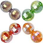 96F Round Crystal AB Beads
