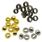 Brass Donut Crimp Beads
