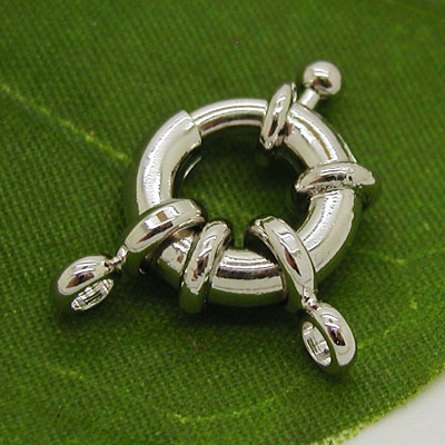 Silver Spring Ring Clasps