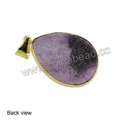Fashion gemstone pendants, Druzy quartz pendants in assorted colors and shapes with gold plated brass frame, Nice natural pattern, Approx 30x20x13mm to 42x26x13mm, Hole: Approx 4mm, 20 pieces per bag, Sold by bags