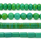 Yellow Green Turquoise Beads