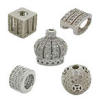 CZ Sterling Silver Assorted Beads