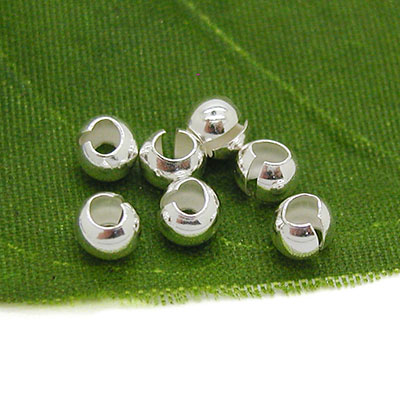 Sterling Silver Crimp Bead Covers