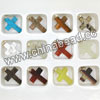 Fashion gemstone pendants, Assorted gemstone crosses, Nice natural pattern, Approx 25x18x4mm, Hole: Approx 2.5mm, 12 pieces per box, Sold by boxes