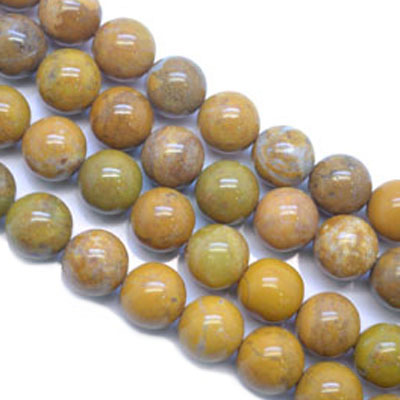 Field Yellow Stone Beads