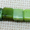 Gemstone Beads, Chrysoprase, Cube, Approx 7x7x7mm, Hole: Approx 0.8mm, 57 pieces per strand, Sold by Strands