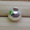 Metal beads, 925 sterling silver smooth round bead, Approx 2mm, Hole: Approx 0.8mm, 100 pieces per bag, Sold by bags