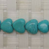 Gemstone Beads, Magnesite, Turquoise blue, Smooth puffy heart, Approx 8x8x4mm, Hole: Approx 1mm, 56 pieces per strand, Sold by strands