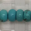 Gemstone Beads, Magnesite, Turquoise blue, Smooth rondelle, Approx 4x7mm, Hole: Approx 1mm, 103 pieces per strand, Sold by strands