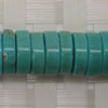 Gemstone Beads, Magnesite, Turquoise blue, Heishi, Approx 3~4x10mm, Hole: Approx 1mm, 111 pieces per strand, Sold by strands
