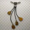 Fashion jewelry pendants, Rhinestones and druzy quartz, Approx 130mm in length, 20x11mm beads, Sold by pieces