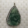 Fashion jewelry pendants, Irregular green fluorite with rhinestones, Approx 54x35x15mm, Sold by pieces