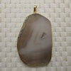 Fashion jewelry pendants, Irregular druzy agate with metal frame, Approx 66x40x5mm, Sold by pieces