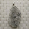 Fashion jewelry pendants, Irregular druzy quartz with metal frame, Approx 50x32x10mm, Sold by pieces