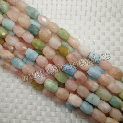 Gemstone morganite beads, Faceted nuggets, Approx 14x20mm, Hole: Approx 1mm, 22 pieces per strand, Sold by strands
