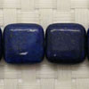 Gemstone lapis lazuli beads,  Blue, Smooth flat square, Approx 16x16x6mm, Hole: approx 1.2mm, 21 pieces per strand, Sold by strands