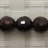 Gemstone garnet beads, Faceted round, Approx 8mm, Hole: Approx 1mm, 50 pieces per strand, Sold by strands