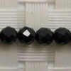 Gemstone spinel beads, Black, Faceted round, Approx 4mm, Hole: Approx 0.8mm, 97 pieces per strand, Sold by strands
