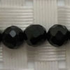 Gemstone spinel beads, Black, Faceted round, Approx 5mm, Hole: Approx 1mm, 80 pieces per strand, Sold by strands