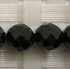 Gemstone spinel beads, Black, Faceted round, Approx 8mm, Hole: Approx 1mm, 49 pieces per strand, Sold by strands