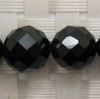 Gemstone spinel beads, Black, Faceted round, Approx 10mm, Hole: Approx 1mm, 40 pieces per strand, Sold by strands