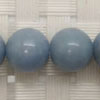 Gemstone angelite beads, Smooth round, Approx 10mm, Hole: Approx 1mm, 39 pieces per strand, Sold by strands