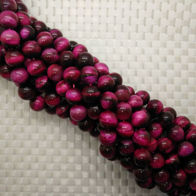 Rose Red Tigereye Beads