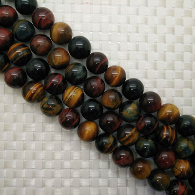 Multi-colored Tigereye Beads